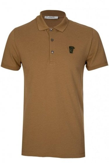 Versace Collections 1/2 Medusa Polo Khaki