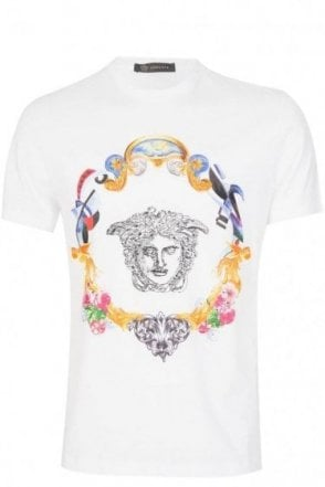 Versace Embroidered Medusa T-Shirt White