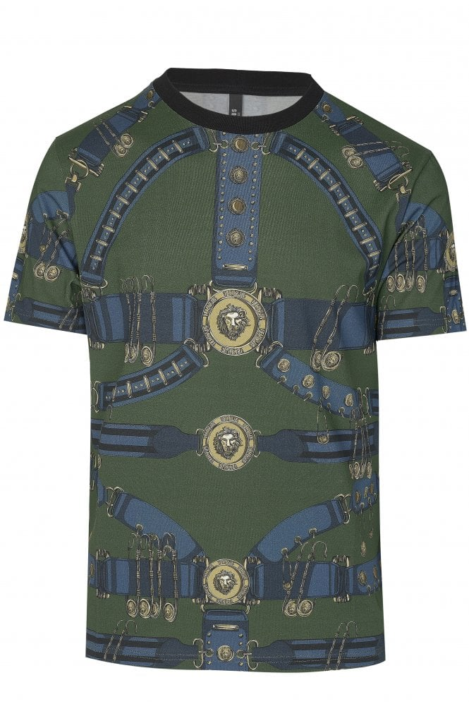 Versace Gold Buckle Printed T-shirt