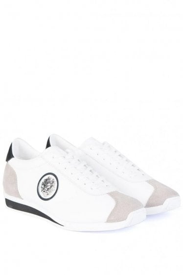 Versace Lion Head Sneakers White