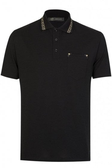Versace Mainline Baroque Collar Polo