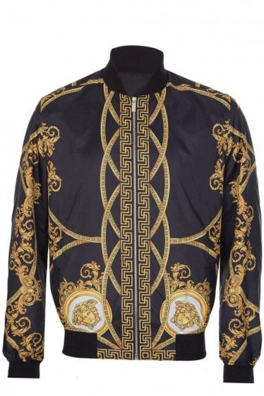 Versace Mainline Baroque Print Jacket Black