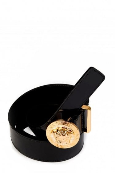 Versace Mainline Crysal Medusa Buckle Belt