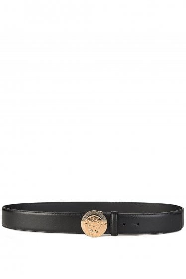Versace Mainline Medusa Gold Buckle Belt