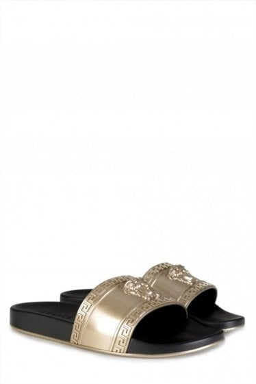 Versace Mainline Sliders Gold