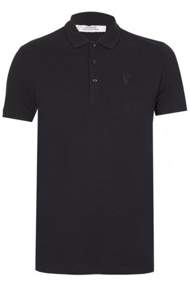 Versace Medusa Chest Logo Polo Black