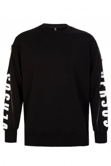 Versace Versus Active Zip Sleeve Sweatshirt