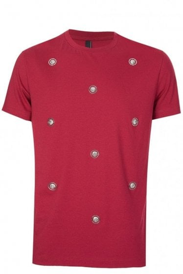 Versace Versus All Over Medallion Tshirt Red