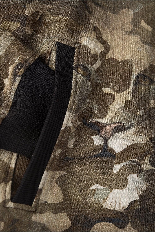 1fc9966a Versus Camo Hooded Sweatshirt Khaki