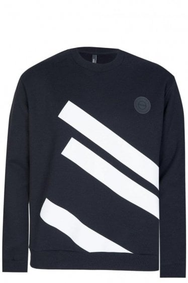 Versace Versus Diagonal Stripes Sweatshirt Black