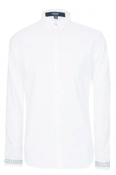 Versace Versus Embroidered Lion Back Shirt White