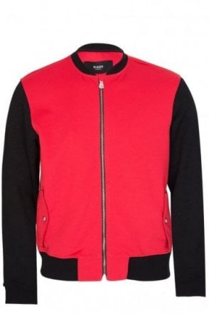Versace Versus Embroidered Lion Jacket Red