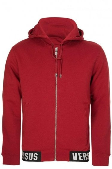 Versace Versus Hem Logo Hooded Jacket Red
