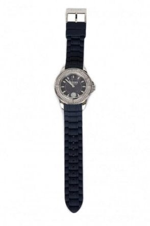 Versace Versus Polished Silver Swarovski Watch