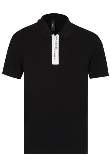 Versace Versus Rubberized Placket Polo Shirt