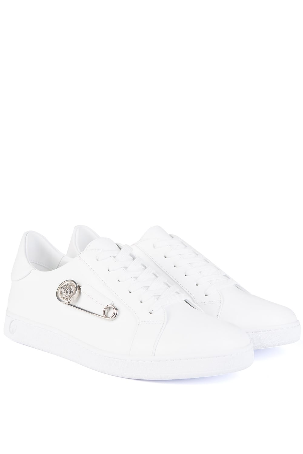 more photos outlet store sale retail prices Versace Versus Safety Pin Sneakers White