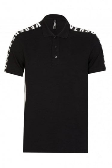 Versace Versus Shoulder Tape Polo Black