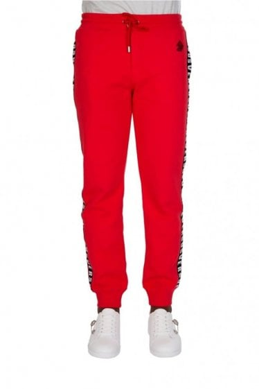Versace Versus Tape Joggers Red