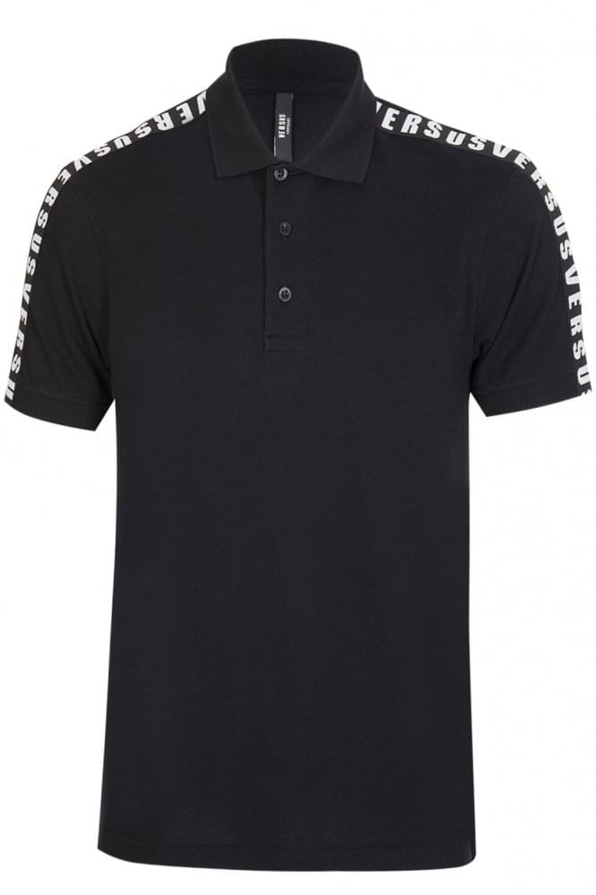 VERSACE Versus Tape Polo Black