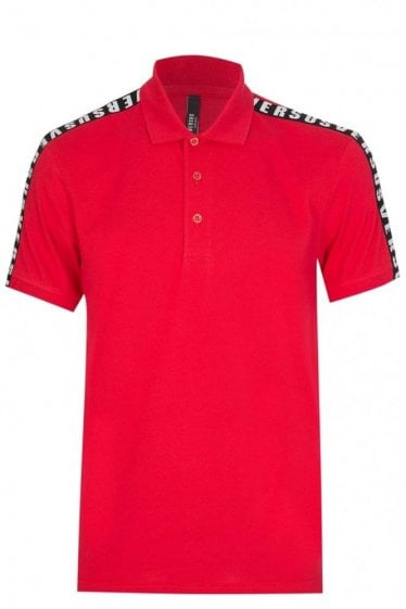 Versace Versus Tape Polo Red