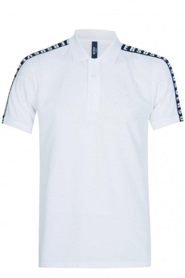 Versace Versus Tape Polo White
