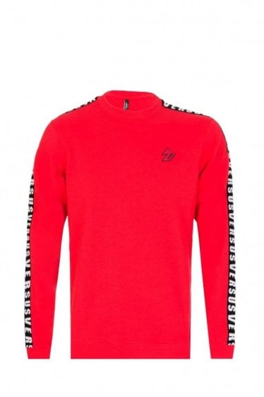 Versace Versus Tape Sweatshirt Red