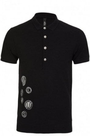 Versace Versus All Over Logo Polo Black