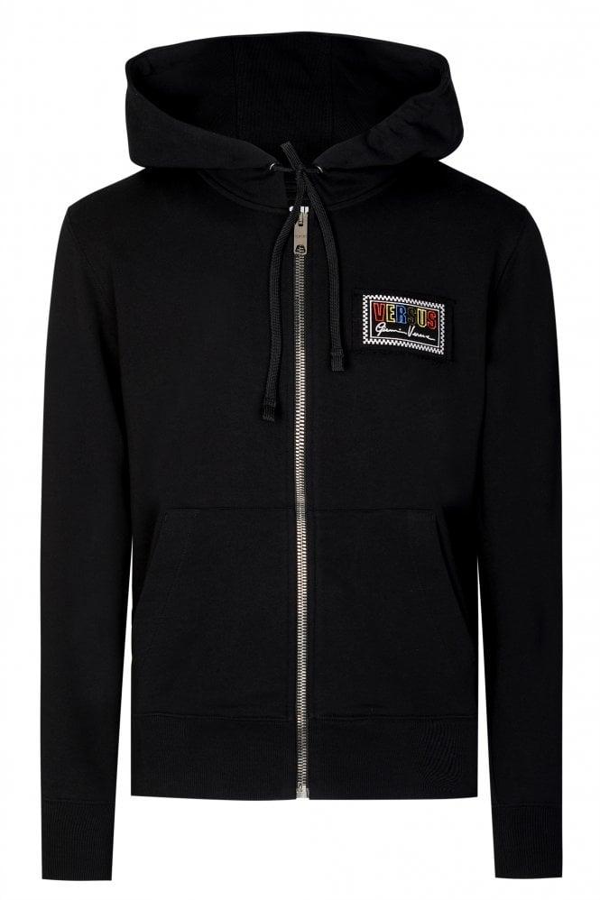 Versus Versace Box Logo Zip-through Hooded Sweatshirt