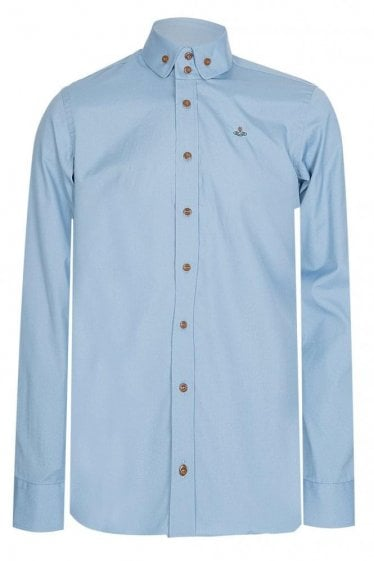 Vivienne Westwood 2 Button Krall Shirt Blue