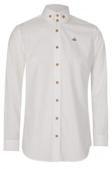 Vivienne Westwood 2 Button Krall Shirt White