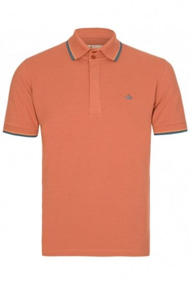 Vivienne Westwood Contrast Tip Polo Coral