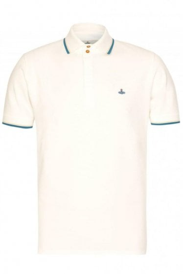 Vivienne Westwood Contrast Tip Polo White