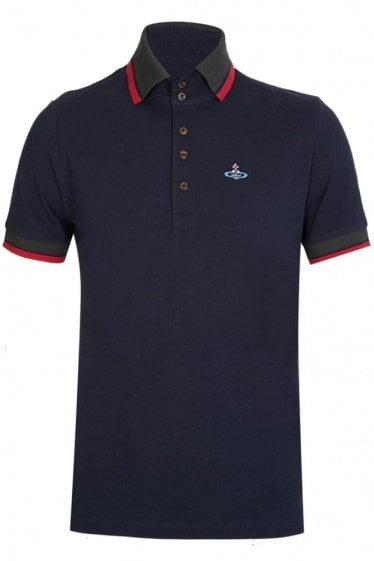 Vivienne Westwood Contrast Trim Polo Navy