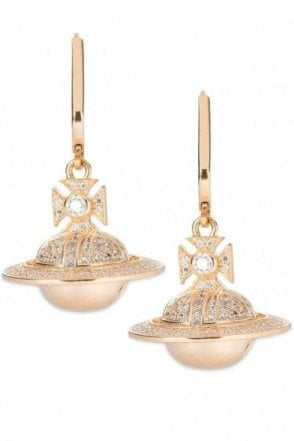Vivienne Westwood Darius Orb Earrings Yellow Gold