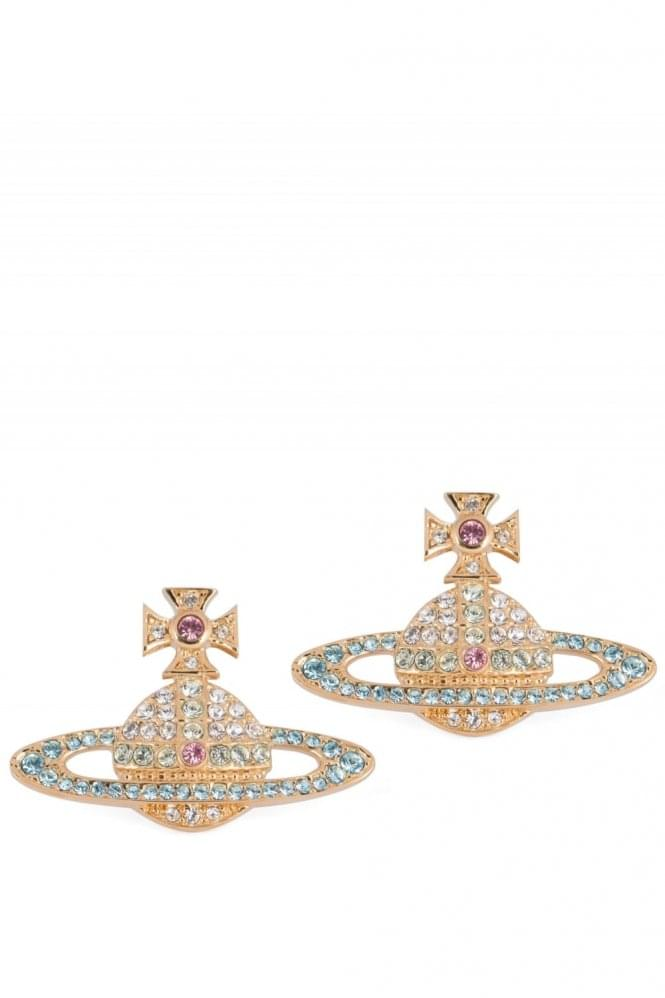 VIVIENNE WESTWOOD Kika Earrings Gold/Aqua
