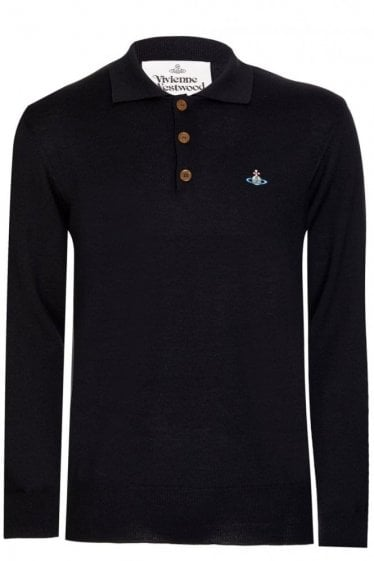 Vivienne Westwood Knitted Polo Black