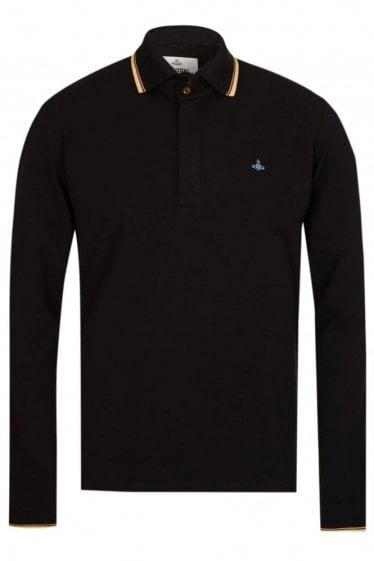 Vivienne Westwood Long Sleeved Polo Black
