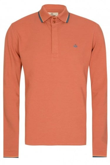 Vivienne Westwood Long Sleeved Polo Orange