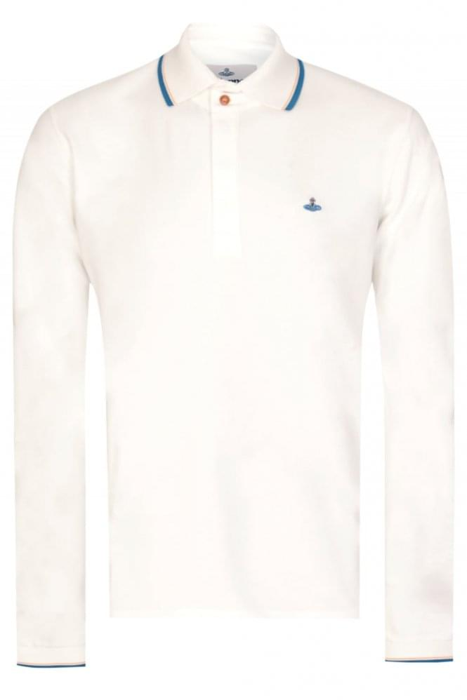VIVIENNE WESTWOOD Long Sleeved Polo White