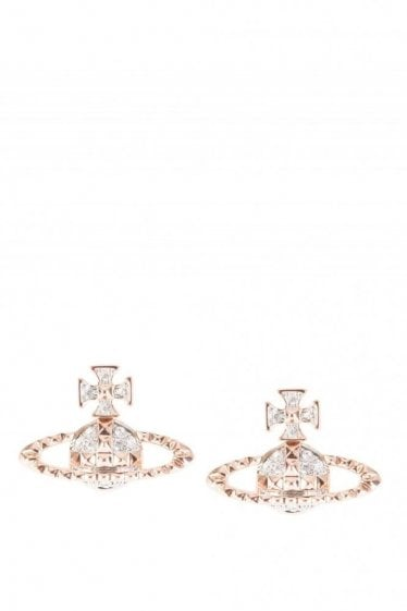 Mayfair Bas Relief Earrings Rose Gold