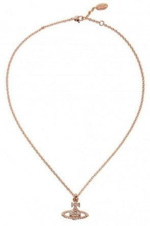 Vivienne Westwood Mayfair Bas Relief Pendant Pink Gold