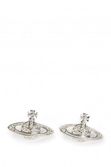 Vivienne Westwood Minnie Bass Relief Earnings Silver