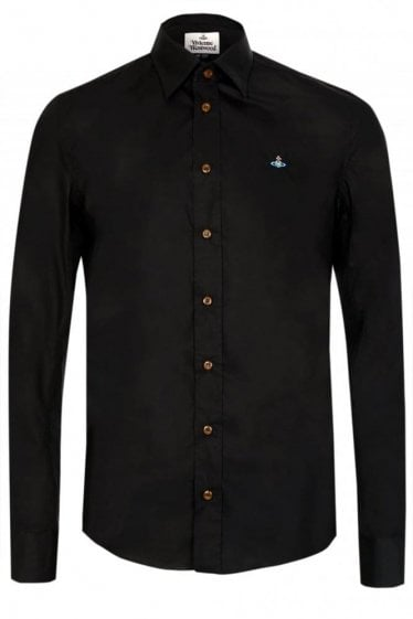 Vivienne Westwood  One Button Poplin Shirt Black