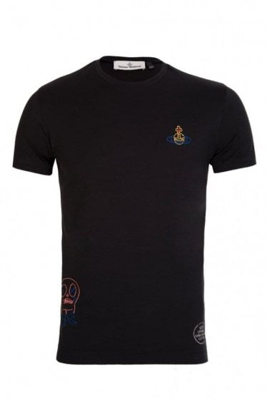 Vivienne Westwood Organic Embroidered Jersey T-Shirt Black