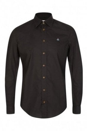 Vivienne Westwood Poplin Stretch Shirt Black