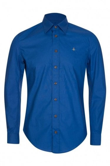 Vivienne Westwood Poplin Stretch Shirt Navy