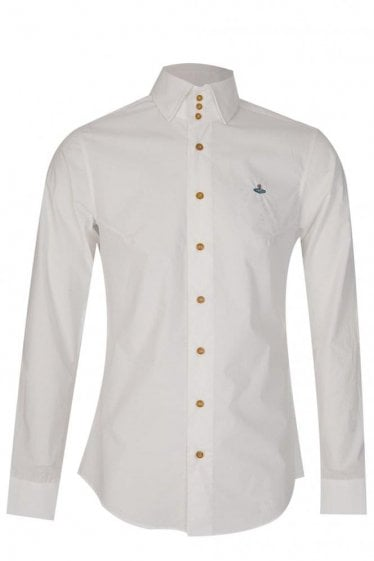 Vivienne Westwood Poplin Stretch Shirt White