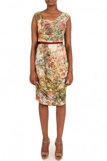 Vivienne Westwood Red Label Floral Ruched Satin Dress