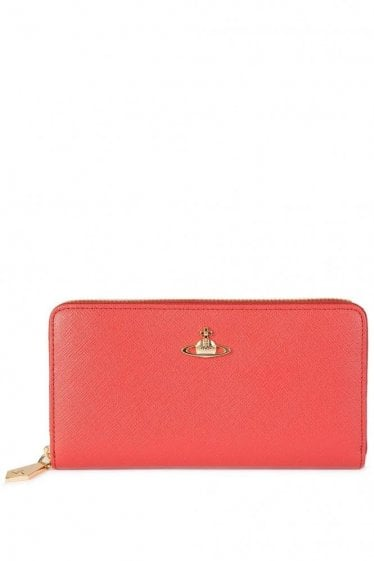 Vivienne Westwood Saffiano Leather Purse Red