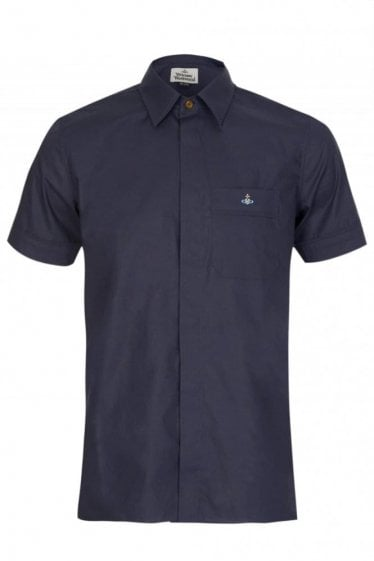 Vivienne Westwood Short Sleeved Shirt Navy